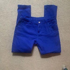 Denim - Bright blue jeans